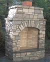 Chilton Country Squire Natural Stone Outdoor Fireplace