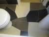 Irregular Cut Ceramic Tile Bathroom Floor