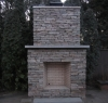 Natural Stone Chilton Country Squire Outdoor Fireplace