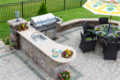 Outdoor Kitchens in Birmingham MI - Top Hat Masonry Repair - OutdoorKitchen1
