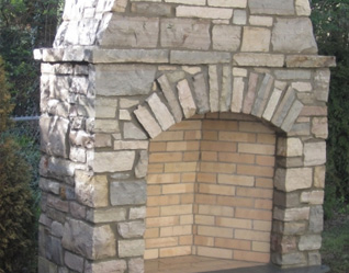 Stone Masonry Services in Waterford Michigan - fireplace