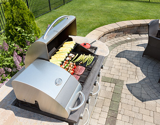 Outdoor Kitchens in Rochester Hills MI - Top Hat Masonry Repair - grill